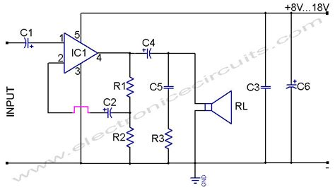 Tda Power Amplifier Circuit Diagram World
