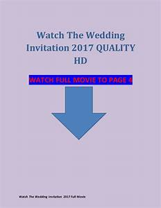 Watch the wedding invitation 2017 full movie hd hindi for Watch the wedding invitation free online