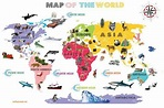 Interactive World Map For Kids - White and Bright | Fun ...