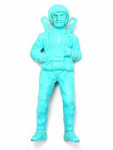 1963 Kay Plastic Blue Army Parachute Man Vintage Toy