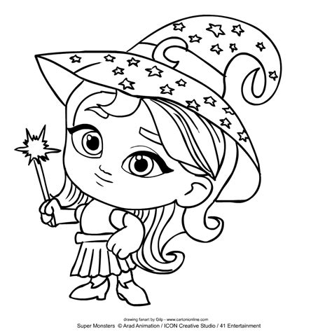 Katya Spelling from Super Monsters coloring page