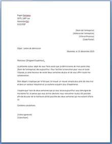 modele lettre de demission gratuit