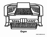 Organ Instrument Coloring Pages Electric Colormegood sketch template
