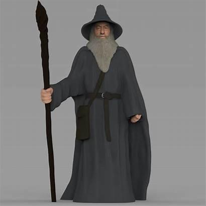 Gandalf Lord Rings Printing Cgtrader