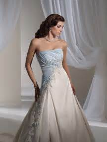light blue wedding dress light blue and white combination wedding dress by tolli 1 wedding inspiration trends