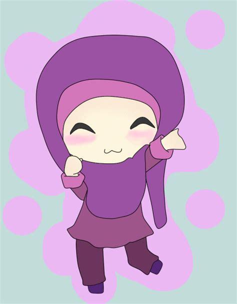 43+ Gambar Animasi Muslimah Bergerak
