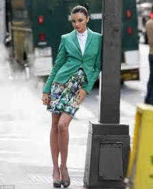 designer blazer miranda kerr steams up the streets of new york for photoshoot daily mail