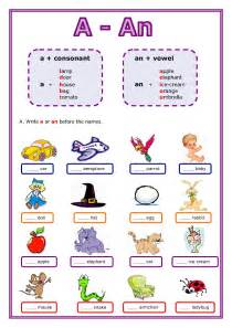 worksheets for class 3 grammar articles