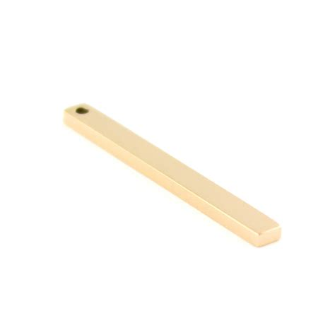 flat bar  hole ct gold plated stainless steel