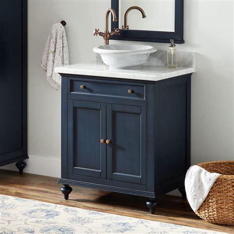 keller mahogany vessel sink vanity vintage navy blue
