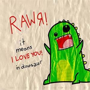 Fun/Humor - Rawr Dinosaur Love - iPad iPhone HD Wallpaper Free