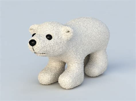 polar bear toy  model ds max files