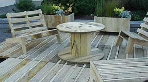 Matériaux Pour Terrasse : jardin terrasse en mat riaux de r cup ration esprit ~ Edinachiropracticcenter.com Idées de Décoration