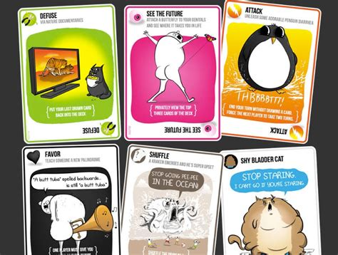 imploding kittens 5 card to play with your most awful friends