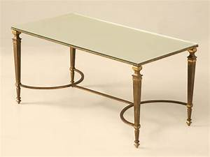 vintage maison jansen gilt bronze coffee table for sale With antique bronze coffee table
