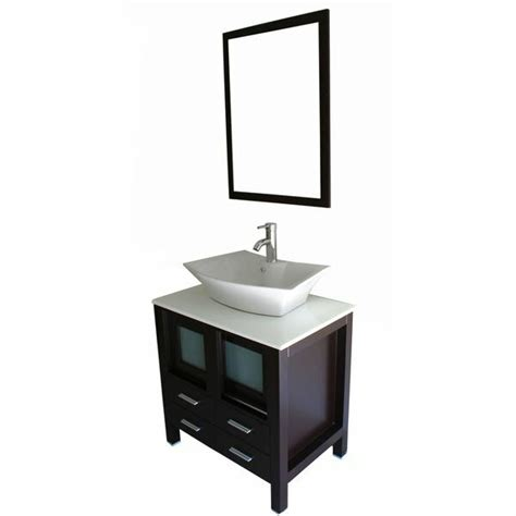 Kokols Modern Bathroom Vanity by Kokols 30 Quot Single Bathroom Vanity Set With Mirror