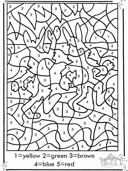Number Drawing Numbers Coloring Pages Colouring Worksheets