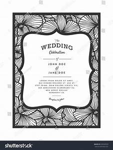 laser cut vector wedding invitation orchid stock vector With orchid laser cut wedding invitations