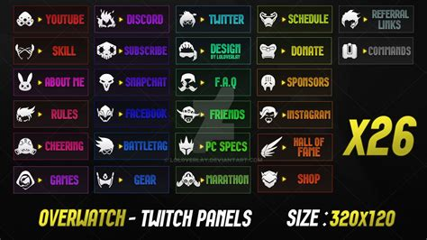twitch info panel templates overwatch twitch panels by lol0verlay twitch panels