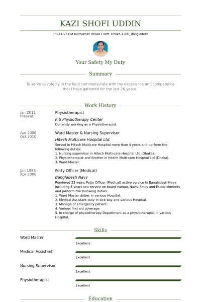 physiotherapist resume  cover letter  resume