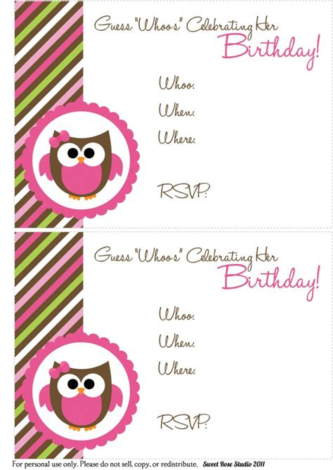 a birthday invitation 41 printable birthday party cards invitations for kids