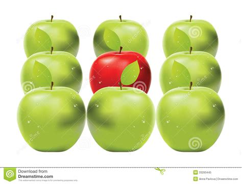 red apple  green apples royalty  stock photo