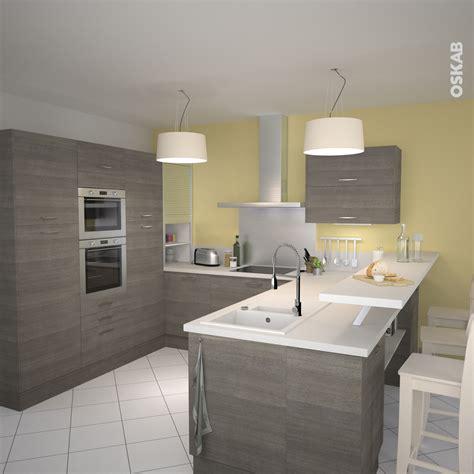 plan de cuisine moderne cuisine en bois structuré stilo noyer naturel kitchens
