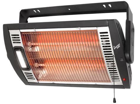 comfort zone 760 watt ceiling mounted electric fan wall