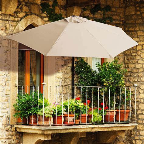 BalkonSonnenschirm, halbrund, beige online kaufen bei