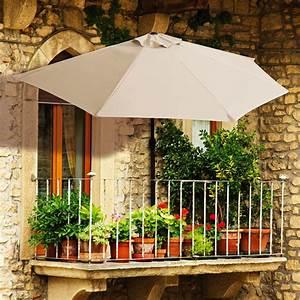 sonnenschirm fr balkon mit halterung das beste aus With französischer balkon mit liegestuhl und sonnenschirm
