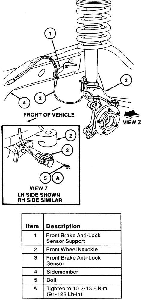 repair anti lock braking 1987 ford taurus auto manual 1990 ford country squire 5 0l fi ohv 8cyl repair guides anti lock brake system speed