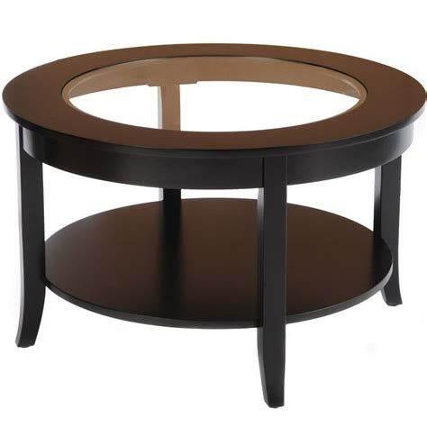 Round Coffee Table Round Glass Top Coffee Table In Coffee Tables