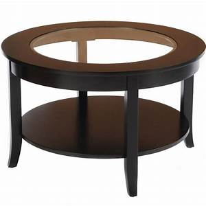 Round glass top coffee table in coffee tables for Glass top circle coffee table