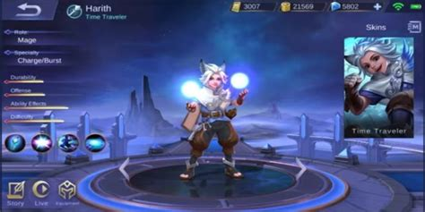 Hero Baru Harith Mobile Legends, Si Time Traveller Imut