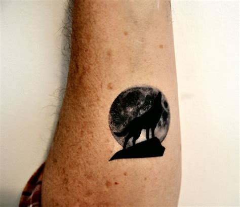 wolf silhouette moon tattoo popular items  wolf