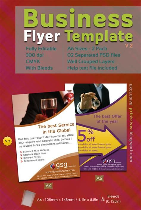 attractive  flyer templates  designs