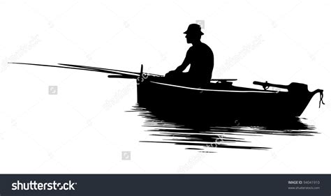 Fishing Boat Silhouette by Fishing Boat Silhouette Clipart