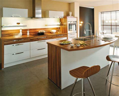 cuisine moderne blanche et bois cuisine design blanche et