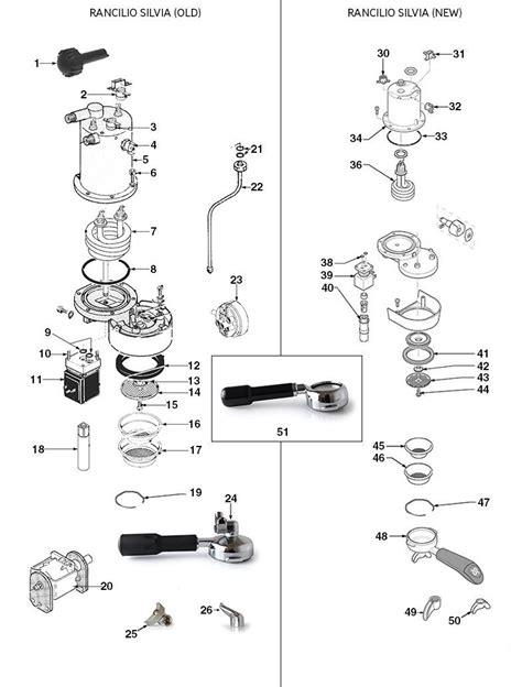 rancilio silvia   diagram