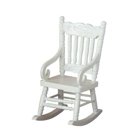 rocking chair couleur blanche