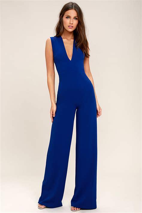 blue jumpsuits chic royal blue jumpsuit backless jumpsuit sleeveless