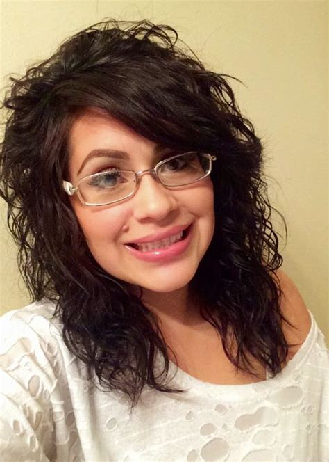 long side bangs with layered cut for natural curly hair