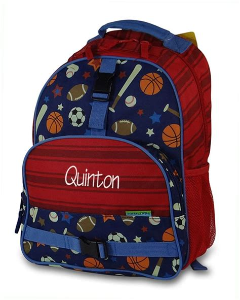 boys sports lunch bag personalized monogram