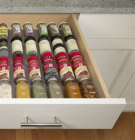 48 Bottle Spice Rack by Youcopia Spiceliner Spice Rack Drawer Organizer Universal