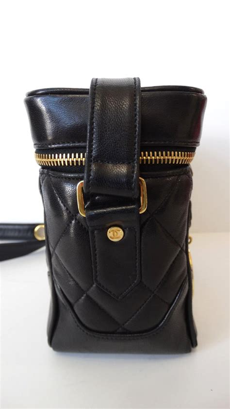 chanel black quilted caviar leather camera bag  sale  stdibs