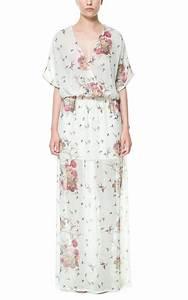 robes longues zara With affiche chambre bébé avec robe blanche imprimée fleurs