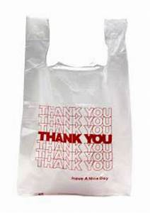 """ Thank You "" T-Shirt Bags Small White Plastic Shopping ..."