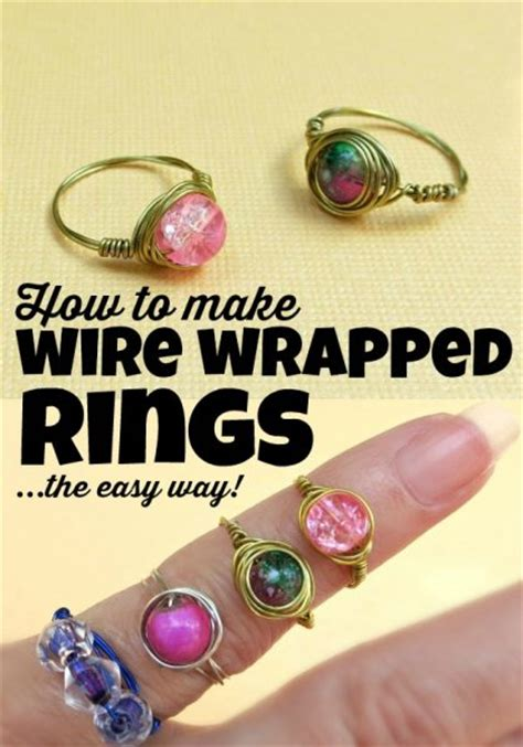 tutorial wire wrapped bead rings dollar store crafts