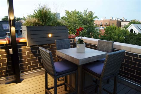 Rooftop Deck With Landscape Lighting, Bbq, And Outdoor