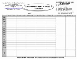 best photos of weekly time management template time With time management grid template